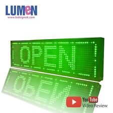 "8"" X 27"" Green Indoor Programmable LED Scrolling Sign Moving Message Window P10"
