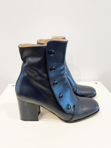 Designer Mulberry Size 39 8 AU Almost Black Marylebone Ankle Women's Boots