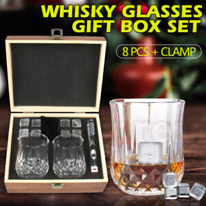 Whiskey Glasses Whiskey crystal Set Tumblers Whisky Spirits,Bourbon Scotch Gifts