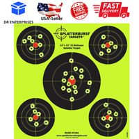 "50 Pack 12""x12"" Shooting Splatter Targets High Visibility Gun Shots Paper Target"