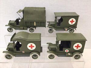 Lot Of Converted Die Cast Vehicles Military Ambulances Etc. Customised #239