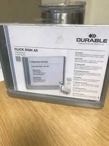 Durable Click Door or Wall Sign 4866-37 A5 size 210 mm x 148.5 mm  New