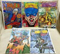 5 Comic Books Protectrs #4 Riot Gear #1 Raver #1 Regulators #2 Prophet