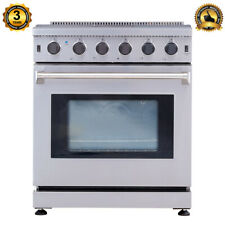 30-Inch Professional Stainless Steel Gas Range 5 Burner Cooker Oven Cooktop Cook