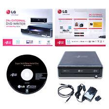USED LG GE24NU40 Super Multi External 24x M-Disc CD DVD Disc Writer Burner Drive