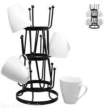 Mug Tree Holder Organizer Rack Stand Durable Steel Stylish 7 1/2 x 15 3/4 Inches