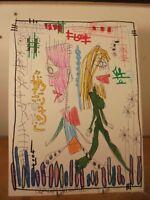 Art Contemporain Art Brut Art Singulier 4004 Oeuvre originale signée JC 10-2-18
