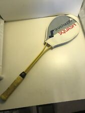 Vintage Squash Racket Snauwaert and Cover Shark Ii Made in Europe