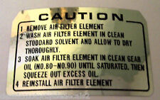HONDA ST70 DAX MONKEY BIKE AIR FILTER CAUTION DECAL