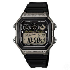 CASIO World Time Illuminator Chronograph Digital Classic Watch AE-1300WH-8A