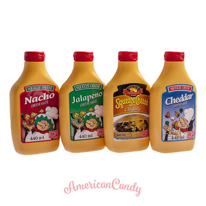 3x440ml USA Squeeze Cheese Sauce Nacho Cheddar Jalapeno Chipotle (12,11 €/ L)