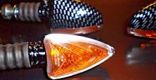 4 X MOTORCYCLE TURN SIGNAL CARBON LOOK FOR KAWASAKI NINJA 250R EX250 VERSYS NEW