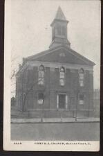Postcard MARTIN'S FERRY OH First M E Church 1907