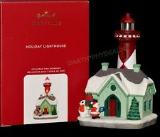 New Listing2020 Hallmark Ornament Holiday Lighthouse Santa Polar Bear Series #9 Magic Light