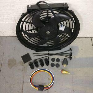 2002 Ford Thunderbird 10 Inch Black Radiator Fan new slim 1019cfm cooling bundle
