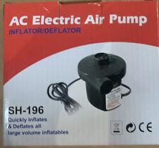 Intex Electric Air Pump Quick Fill 120V 110V AC Nozzles Boat Mattress Tube Pump
