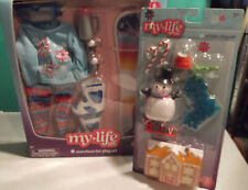 My Life As Snowboarder Play Set - Snowboard Clothes Boots - Winter Play Set NIP