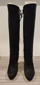 Gucci knee-high Black boots (Size :38.5 Italy, 8 AU)