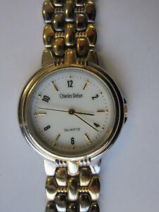 Charles Delon Quartz  Analog fancy watch Gold/silver - limited edition Unisex