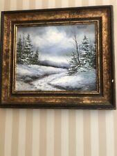 Y Bousquet Snow Scene Oil Painting