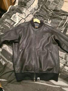 A Bathing Ape BAPE Ayoma Black Leather Jacket XL