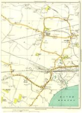 Lancashire.hough Green, Ditton, Hale Banca, Mersey, Big Boar's LEGNO 1935 Old Map