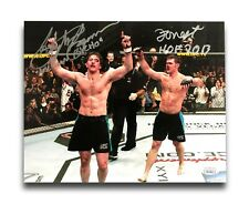 FORREST GRIFFIN / STEPHAN BONNAR DUAL SIGNED 8X10 PHOTO UFC JSA COA AUTOGRAPH