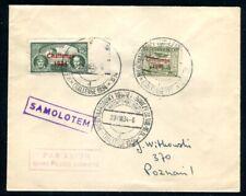 POLEN 1934 289-290 mit SST auf FLUGPOSTBELEG (09289