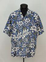 VTG Made Hawaii Hawaiian Shirt Aloha Hilo Hattie Floral Tropical Hibiscus USA XL