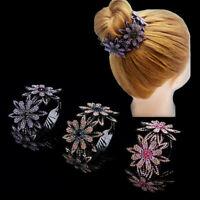 Women Crystal Claw Hair Clip Clamp Ponytail Bun Holder Headwear Hair Accessories