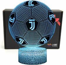 Football Shape Juventus 3D Optical Illusion Smart LED Night Light Table Lamp USB