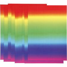 Rainbow Multi-Colour 10 x A4 Gloss Paper Craft Card-Making Scrapbooking 180g