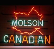 "New Molson Canadian Maple Beer Neon Light Sign 20""x16"""