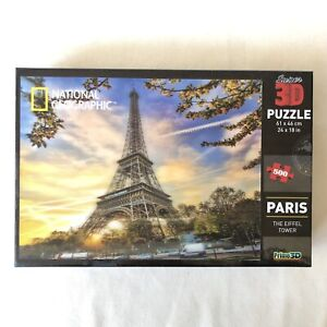National Geographic Super 3D 500 Puzzle Jigsaw Paris The Eiffel Tower France