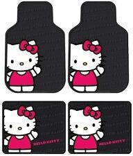 Brand New Hello Kitty Waving 4PC Floor Mats Front / Rear for Cars & Trucks HS5