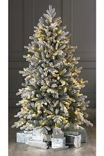 Luxury 5ft Green Frosted Spruce Christmas Tree Pre Lit Warm White Led Lights