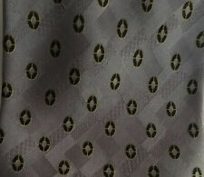 Brioni Mens Geometric Textured Pattern Dark Gray Black & Yellow  100% Silk Tie