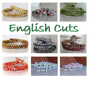 English Cuts Czech Glass Beads 3mm 50 Pcs Ur PICK Small Faceted Spacer Beads