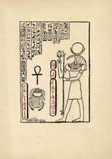 TORTOLA VALENCIA: Exlibris für Dr. J. Catasus, Hieroglyphen, 1954
