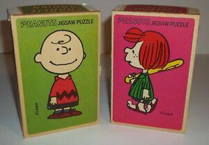 Peanuts - Charlie Brown & Peppermint Patty - Milton Bradley Minis 70 Pcs. Ea.