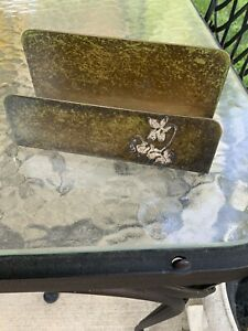 Wonderful Heintz (AMS) Sterling on Bronze Arts & Crafts Floral Letter Holder