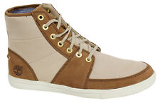 Timberland Newmarket Classic 7 Eye Mens Boots Lace Up Cream 6722R D118