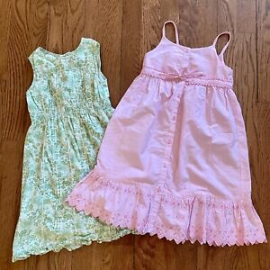 Girl's Laura Ashley Floral Embroidered Maxi Dresses 4T Prairie Cottagecore
