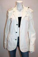 Pepe JEANS LONDON Brand White Denim Long Sleeve Jacket Size L #AN02
