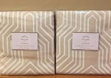 "NEW 2PC Pottery Barn Isla Print 96"" Drape LIGHT TAUPE"
