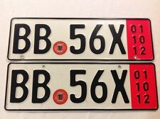 European-Delivery official GERMAN CUSTOMS genuine license plate Expired