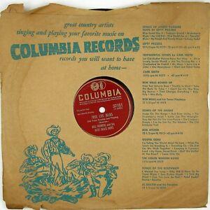 BILL MONROE True Life Blues/Footprints In The Snow 10IN BLUEGRASS NM- LISTEN!!!!