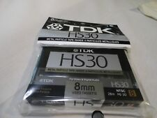 New Tdk Hs30 Blank 8Mm Video Cassette Tape Camcorders Video Recorders Brand New