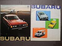 JDM SUBARU Full Line Fold-Out Original Sales Brochure Catalog LEONE REX SAMBAR