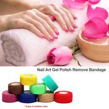 Nail Technician Tech Finger Filing Protection Tape Wrap Bandage Tool 5Pcs